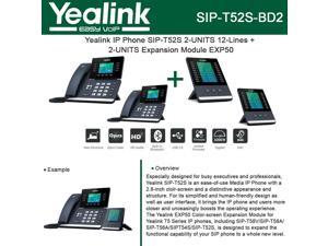 Yealink SIP-T58A IP Phone 2-UNITS Smart Media + 2-UNITS Expansion Module  EXP50 - Newegg com