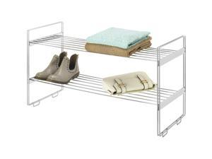 Metal Stackable Closet Shelves, Chrome Finish - by Whitmor