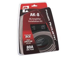 Power Acoustik AK-8 8AWG Complete Amplifier Kit