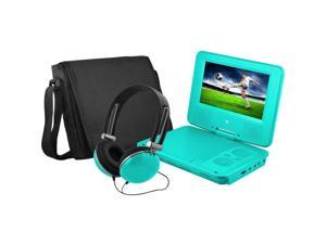 Ematic EPD707TL 7-Inch Portable DVD Player with Matching Headphones and Bag (Teal)