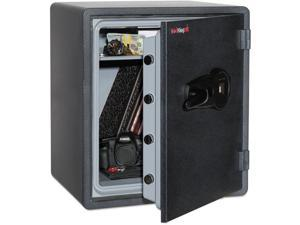 FireKing - KY1915-1GRFL - One Hour Fire and Water Safe w/Biometric Fingerprint Lock, 2.14 cu. ft, Graphite