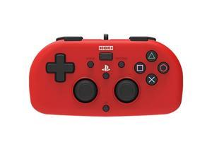 hori sony licensed wired controller light small red for ps4