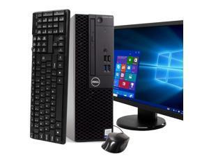 """Dell Optiplex 3050 Desktop Computer PC, 3.20 GHz Intel i5 Quad Core Gen 7, 8GB DDR4 RAM, 1TBSSD SSD Hard Drive, Windows 10 Professional 64 bit,  24"""" Screen"""