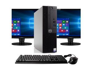 "Dell Optiplex 3050 Desktop Computer PC, 3.20 GHz Intel i5 Quad Core Gen 7, 8GB DDR4 RAM, 2TB SATA Hard Drive, Windows 10 Professional 64 bit, Dual (2) NEW 24"" Screens Screen"
