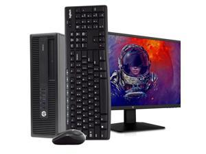 "HP ProDesk 600 G2 SFF Desktop PC Computer, Intel i5-6500, 8GB RAM 500GB HDD, Windows 10 Professional, New 23.6"" FHD V7 LED Monitor, New 16GB Flash Drive, Wireless Keyboard & Mouse, DVD, WiFi"