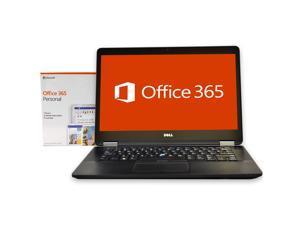 """Dell Latitude E7470 Laptop Computer,  Intel Core i5 (6th Gen), 16GB DDR3 RAM, 512GB SSD Hard Drive, Windows 10 Pro + Microsoft Office, 14"""" Screen"""