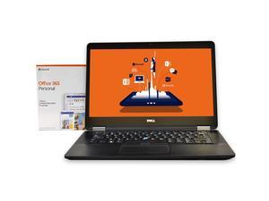 """Dell Latitude E7470 Laptop Computer,  Intel Core i5 (6th Gen), 8GB DDR3 RAM, 256GB SSD Hard Drive, Windows 10 Pro + Microsoft Office, 14"""" Screen"""