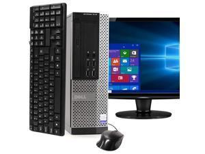 """Dell OptiPlex 7020 Desktop Computer PC, 3.20 GHz Intel i5 Quad Core Gen 4, 8GB DDR3 RAM, 240GB SSD Hard Drive, Windows 10 Professional 64 bit, 22"""" Screen"""