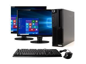 "Lenovo ThinkCentre M90 Desktop Computer PC, 3.10 GHz Intel i5 Dual Core Gen 88, 16GB DDR3 RAM, 240GB SSD Hard Drive, Windows 10 Home 64 bit, Dual (2) 22"" Screens Screen"