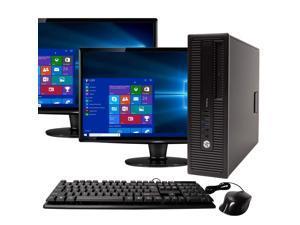 "HP ProDesk 600G1 Desktop Computer PC, 3.20 GHz Intel i5 Quad Core Gen 4, 16GB DDR3 RAM, 1TB SATA Hard Drive, Windows 10 Home 64 bit, Dual (2) 22"" Screens Screen"