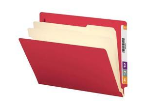 Smead Manufacturing Company SMD26838 Classification Folders- 2 Dividers- Letter- Red