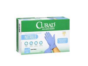 Curad Nitrile Powder-Free Exam Gloves, 100 count