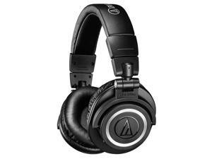 AudioTechnica ATH-M50xBT Wireless Over-Ear Headphones with Built-In Remote and Microphone (Black)
