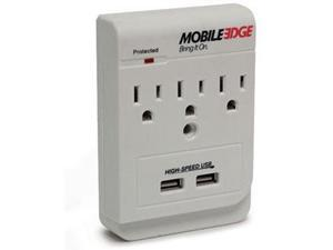 Mobile Edge  MEAUAC  3  Outlets 450 joules  DualPower DX AC and USB Charging Outlets