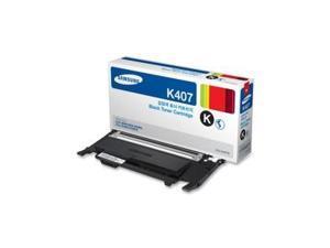 Black Toner Cartridge for Samsung CLT-K407S CLP-320, CLP-320N, CLP-325, CLP-325W, CLX-3180, CLX-3185, CLX-3185FN, CLX-3185FW, CLX-3185N, Genuine Samsung Brand