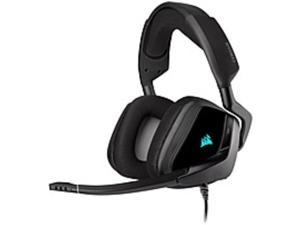 Corsair VOID RGB ELITE USB Premium Gaming Headset with 7.1 Surround Sound - Carbon - Stereo - USB, Mini-phone (3.5mm) - Wired - 32 Ohm - 20 Hz - 30 kHz - Over-the-head - Binaural - Circumaural - ...