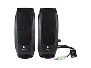 Logitech S-120 2-Piece 2 Channel Multimedia Speaker System w/Headphone Jack (Black)