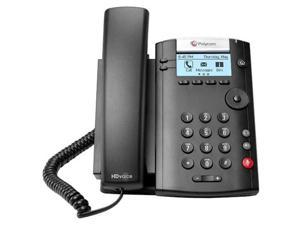 Polycom 201 IP Phone - Cable - Desktop, Wall Mountable - 2 x Total Line - VoIP - Caller ID - Speakerphone - 2 x Network (RJ-45) - PoE Ports - SIP, SDP, DHCP, SNTP, CDP, LLDP-MED, NAT, RTCP, RTP, ...