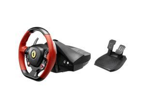 Thrustmaster Ferrari 458 Spider Racing Wheel - Cable - Xbox One - Force Feedback - Black, Red