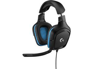 Logitech G432 7.1 Surround Sound Gaming Headset - Stereo - Mini-phone, USB - Wired - 5 Kilo Ohm - 20 Hz - 20 kHz - Over-the-head - Binaural - Circumaural - 6.56 ft Cable - Cardioid, ...