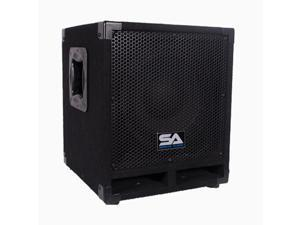 """Seismic Audio - Really-Mini-Tremor - Powered 10"""" Pro Audio Subwoofer Cabinet - 250 Watts RMS - Active  PA/DJ Stage, Studio, Live Sound Subwoofer"""