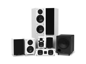 Fluance Elite High Definition Surround Sound Home Theater 7.1 Speaker System including Floorstanding Towers, Center Channel, Surround, Rear Surround Speakers and DB10 Subwoofer - White (SX71WHR)