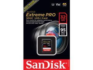 SanDisk 32GB SD Extreme pro 95MB/s U3 V30 4K 32G SDHC USH-I C10 SDSDXXG-032G