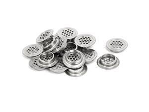 29mm Bottom Dia Stainless Steel Round Mesh Hole Air Vents Louver 20pcs