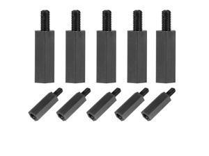 Global Bargains M3 15+6mm Male Female Thread Nylon Hex Standoff Spacer Screws PCB Pillar 50pcs