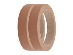 2Pcs Single Side Adhesive Easy-clean Brown Marking Tape 20mm Wide 22 Meters Long