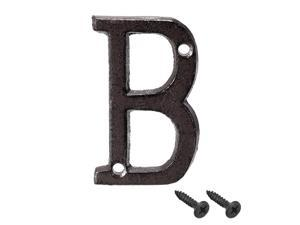 House Letter, 3 Inch Cast Iron Letter B for Home Hotel Mailbox Address Sign