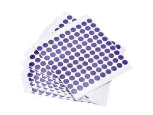 Round Number Stickers, 10mm Dia Number 1-100 Coated Paper Label 15 Sheets, Black Word/Purple Background