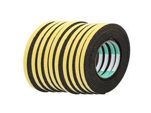 10pcs 4M 10mm x 3mm Single-side Adhesive Sound Insulation Sponge Tape Yellow