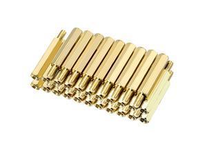 Unique Bargains 40pcs M3 20+6mm Female Male Thread Brass Hex Standoff Spacer Screws PCB Pillar