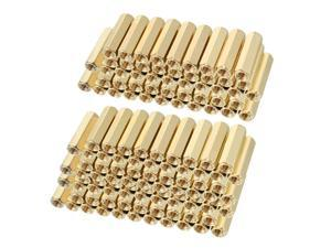 Unique Bargains 120pcs Brass Straight PCB Pillar Female Thread Hex Standoff Spacer M3x5x16mm