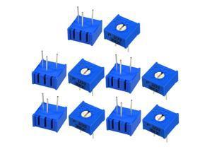 Unique Bargains Variable Resistors 10K Ohm Top Adjustable Horizontal Cermet Potentiometer 10Pcs