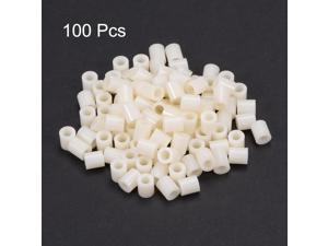 Unique Bargains 100pcs Nylon Round Straight Pillar Insulating Tube PCB Spacer Standoffs 4x7x8mm