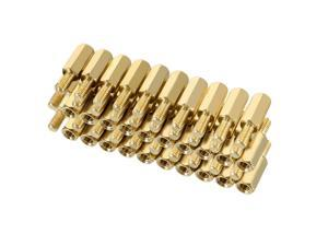 Unique Bargains 50pcs M3 13+6mm Female Male Thread Brass Hex Standoff Spacer Screws PCB Pillar