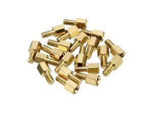 Unique Bargains 20pcs M3 5+6mm Female Male Thread Brass Hex Standoff Spacer Screws PCB Pillar