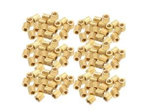 Unique Bargains 115pcs Brass Round Straight PCB Pillar Female Thread Standoff Spacer M2x3x3mm