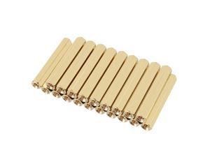Unique Bargains 20pcs Brass Straight PCB Pillar Female Thread Hex Standoff Spacer M3x5x35mm