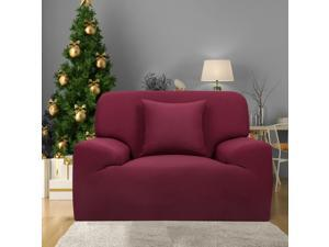 "Stretch 1 Seat Cover Couch Sofa Slipcovers Protector Burgundy 35"" - 55"""