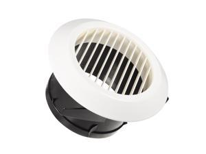5 Inch Air Vent Circular ABS Louver White Grille Cover Exhaust Vent Fit for Bathroom Office Kitchen Ventilation