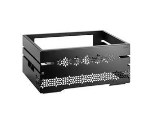 Rosseto SM321 10 in. Mosaic Multi-Chef Warmer with 3 Fuel Holders & Reversible Burner Stand - Black Matte