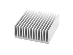 Aluminium Sink Cooling Fin Heatsink Silver Tone 50mm x 50mm x 20mm