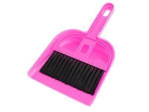 Unique Bargains Pink Black Plastic PC Keyboard Fan Blade Mini Brush Dustpan Cleaning Tool Set
