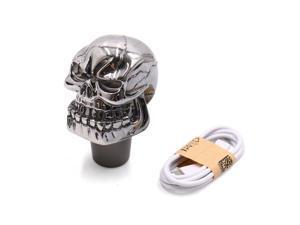 Skull Head Design Colorful LED Light Manual Gear Shift Knob Lever for Car