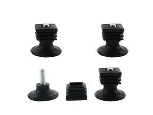 Leveling Feet 25 x 25mm Square Tube Inserts Sofa Leg Adjustable Leveler 4 Sets