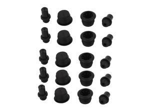 20Pcs Black Plastic Post Socket Type Speaker Grill Fixing Pegs Studs