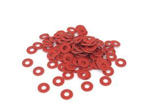3mmx7mmx0.5mm Fiber Motherboard Insulating Pad Fastening Washers Red 100pcs